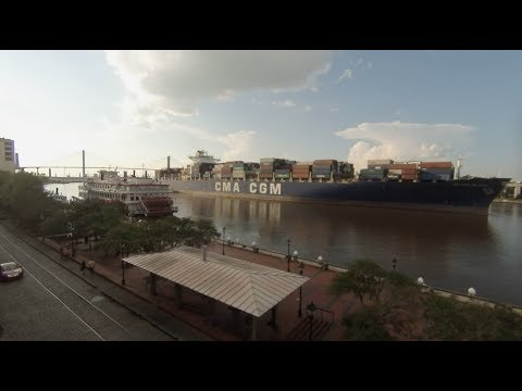 Savannah, Georgia - Savannah River Timelapse HD (2017)