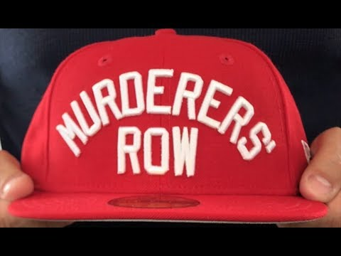7bfb5b74 Yankees 'MURDERERS ROW' Red Fitted Hat by New Era