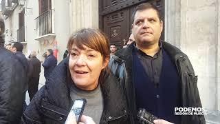 María Giménez y Andrés Pedreño acuden a la manifestación convocada por los regantes