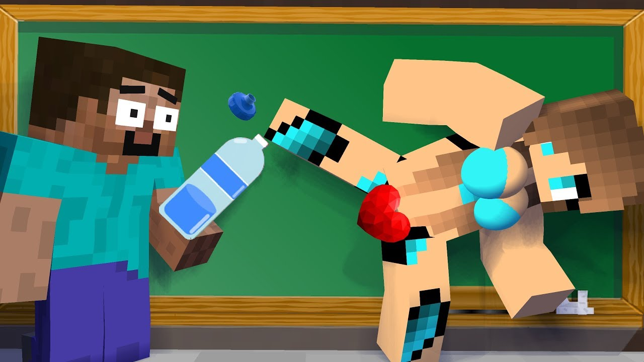 Naked girls in minecraft in college Monster School Cute Girl Bottle Cap And The Ghost Challenge Minecraft Animation Youtube