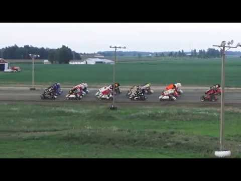 Great Lakes Sprint Series 4 Wide Salute at I-96 Speedway on 07-31-16