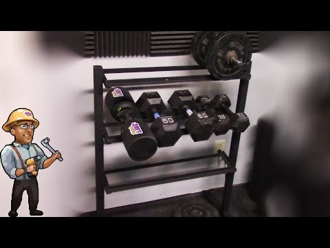 How to Build a Home Dumbbell Weight Rack - DIY