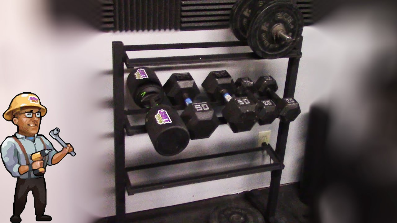 how to build a home dumbbell weight rack diy youtube