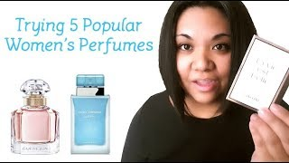 Trying 5 Popular Women's Designer Perfumes (Lancome, D&G, Guerlain, Givenchy, Paco Rabanne)