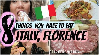 8 Foods You Have to Eat in ITALY!   Singaporean Tries Italian Food  Florence
