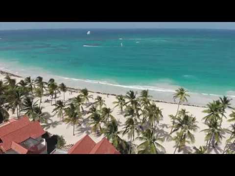 Пляж -вид  с ДРОНА Tropical Princess Caribe Club  2019
