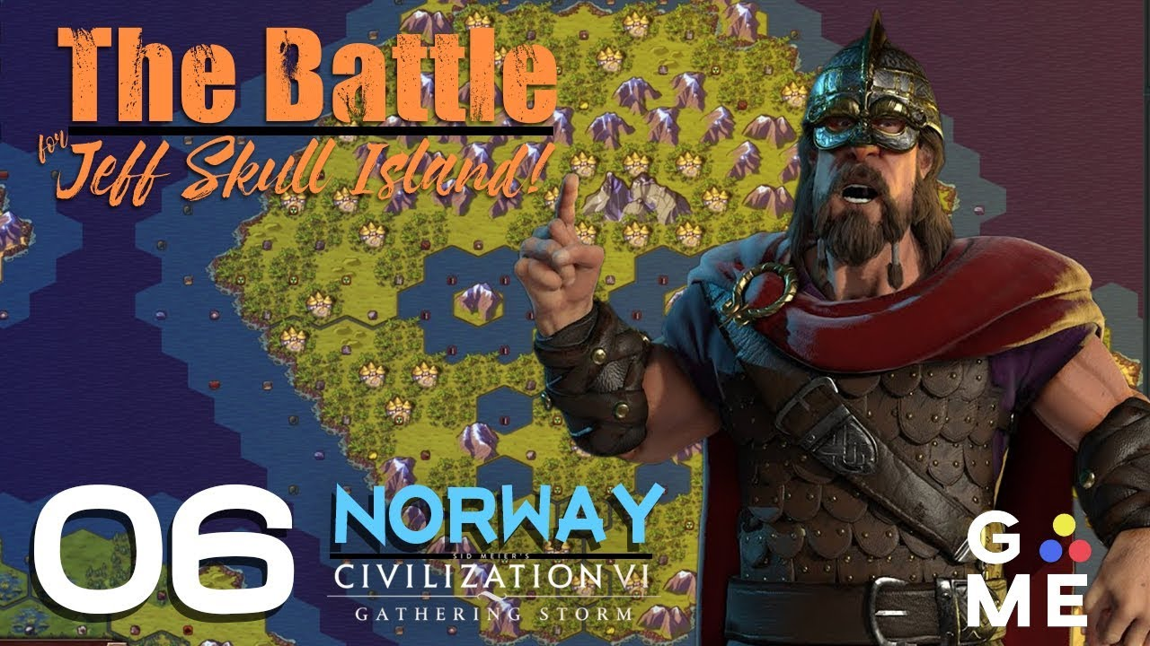 The Battle for Jeff Skull Island - Deity Norway | Civ 6 Gathering Storm -  Custom Map | Episode 6