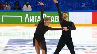 Произвольный танец Танцы на льду Кубок Первого канала по фигурному катанию 2021