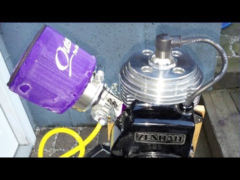 Zenoah G2D 24cc Performance Engine running on 110 octane race fuel