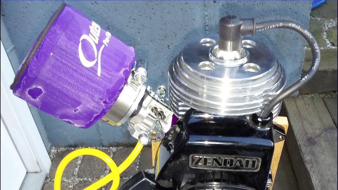 Zenoah G2D 24cc Performance Engine running on 110 octane race fuel
