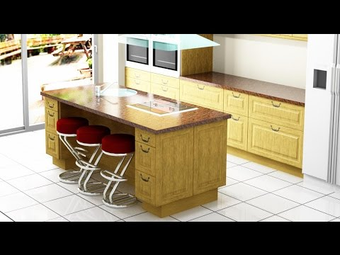como hacer una isla para la cocina youtube. Black Bedroom Furniture Sets. Home Design Ideas