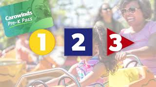 Carowinds Pre-K Pass for 2019