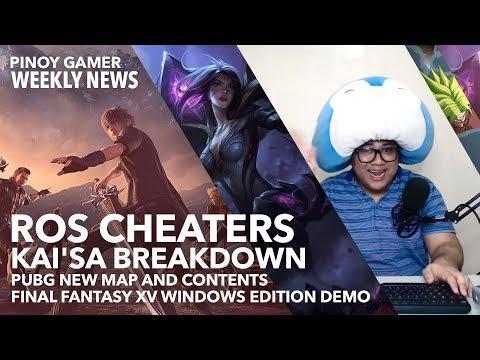 Rules of Survival Hackers +  Kai'Sa LoL Breakdown + SAO Integral Factor + PUBG new Map - Pinoy Gamer