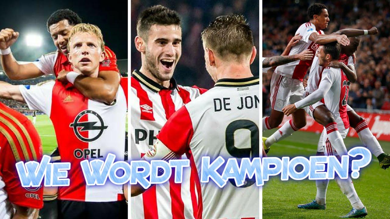 Wie wordt kampioen van de Eredivisie? {2016/2017} - YouTube