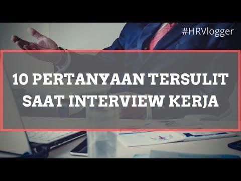 PERTANYAAN INTERVIEW KERJA YANG SERING MUNCUL (2018) - HRVlogger