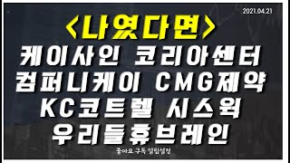 [나였다면] 케이사인, 코리아센터, 컴퍼니케이, CMG…