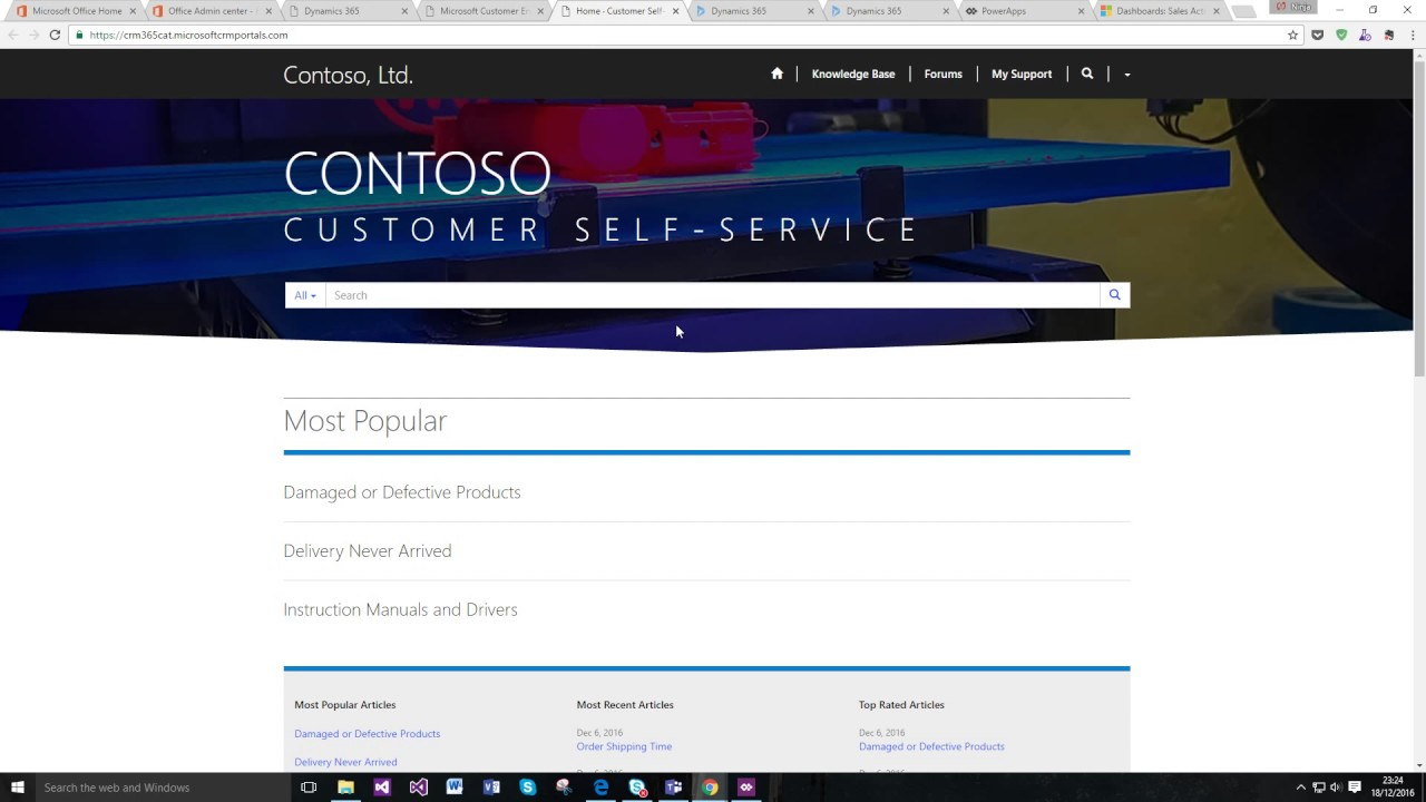 How to Setup your (standard) connected Microsoft Dynamics 365 Portal