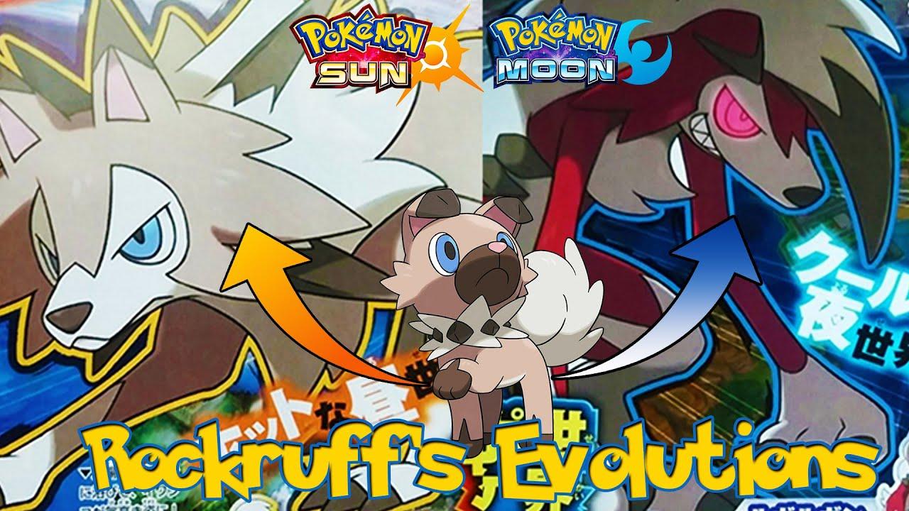 pokemon sun and moon rockruff evolutions corocoro youtube