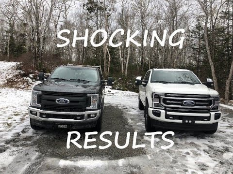 SHOCKING RESULTS!! 2020 FORD SUPERDUTY 10 SPEED Vs 2019 FORD SUPERDUTY MPG TEST