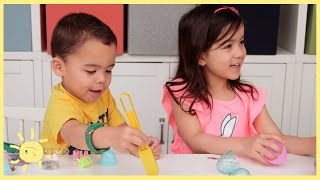 PLAY   Reuse Plastic Eggs 3 Ways!!