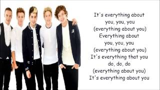 Everything About You - One Direction ( Lyrics + Pictures )