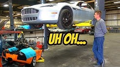 Here's Everything That's Broken on the Cheapest Aston Martin Rapide (And Murcielago Engine Out!)