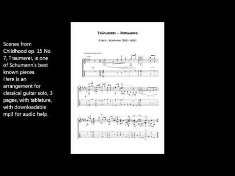 Traumerei Reverie Op 15 No 7 guitar sheet music