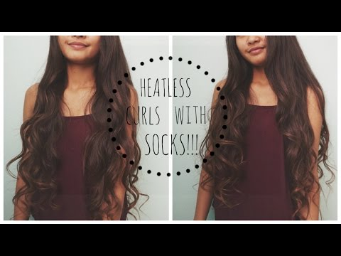 HEATLESS Overnight Curls Using Socks/sock Buns!!!