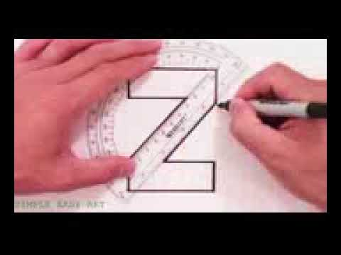 رسم حرف Z ثلاثي الابعاد Youtube