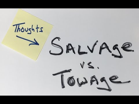 It was just a boat tow!  Maritime salvage vs. towage.