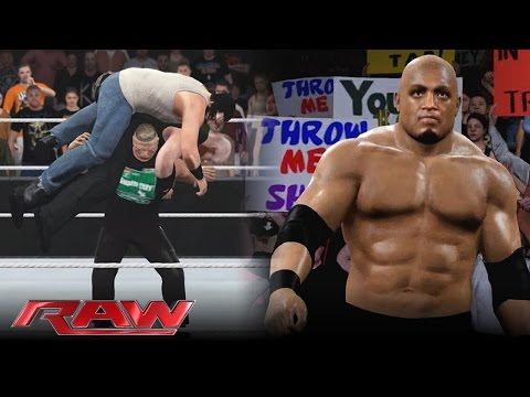 WWE 2K16 - Brock Lesnar Destroys The Wyatts & Bobby Lashley Returns (RAW Story)