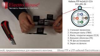 Обзор FTP и UTP кабелей со стальной проволокой для наружного монтажа от ElectroHouse