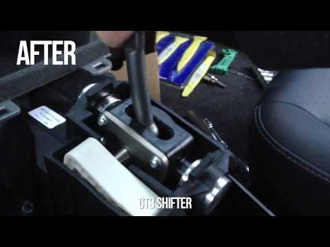 Porsche GT3 Shifter in a Cayman S - Before/After Comparison