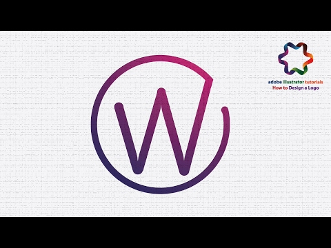 Circle Letter Logo Design Tutorial Using Font - Adobe illustrator CC Logo Design Tutorial