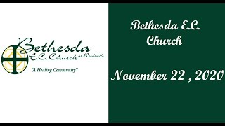 Bethesda EC Church - Schuylkill Haven, PA - Sunday 11/22/2020 Communion Service