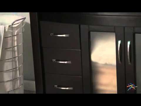 Virtu USA Ava 48 in  Espresso Single Bathroom Vanity Set - Product Review Video