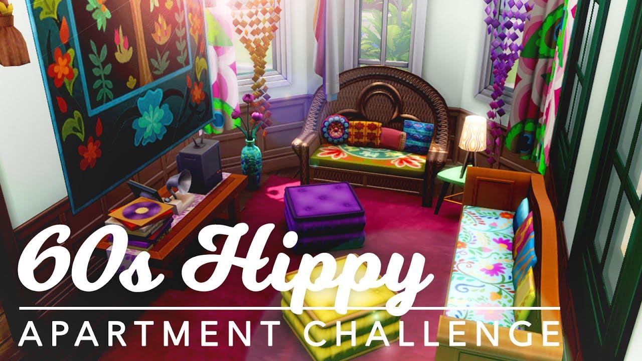 1960s Hippy Apartment | #irrelemidcentury Build Challenge | Sims 4 (No CC)