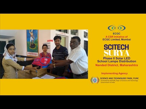Scitech Surya Phase II Solar LED School Lamps Distribution | Nanded District