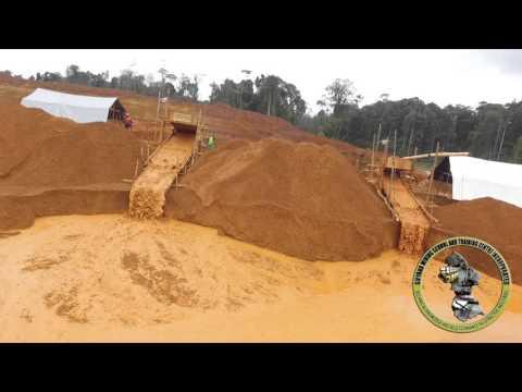 Drone Surveilance of Model Medium Scale Mine in Guyana