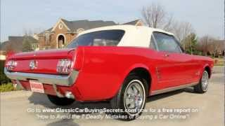 1966 Ford Mustang Convertible Classic Muscle Car for Sale in MI Vanguard Motor Sales