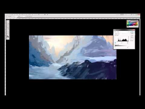 Snow concept speed painting.