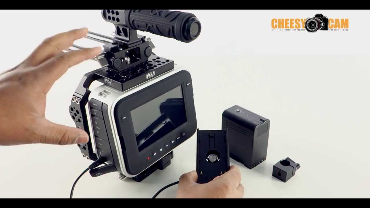 Blackmagic Design Cinema Camera External Battery Adapter Sony Bp U60 Bp U30 Youtube