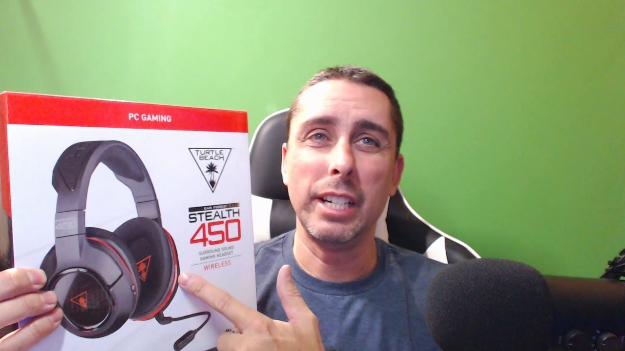 f607dbad2e7 Turtle Beach Ear Force Stealth 450 Wireless PC Gaming Headset REVIEW ...