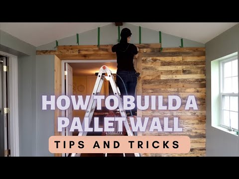 How to Build a Pallet Accent Wall | Miss DeWalt