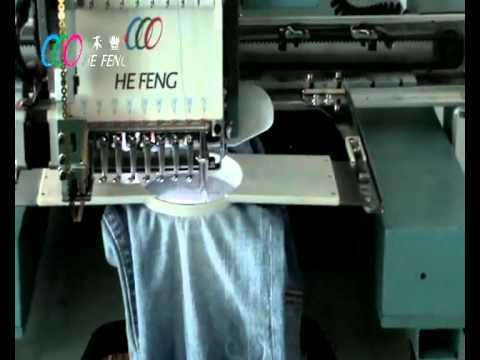 He feng single head embroidery machine jean embroidery youtube he feng single head embroidery machine jean embroidery ccuart Gallery