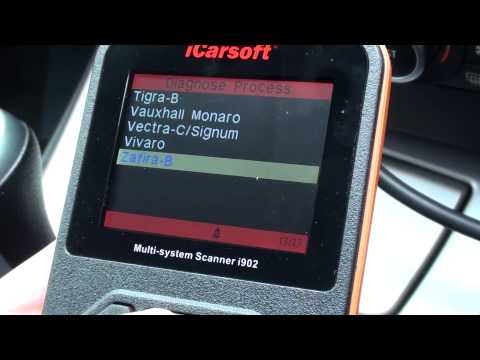Vauxhall Opel Zafira B Menu Module Coverage iCarsoft i902 Diagnostic Scanner