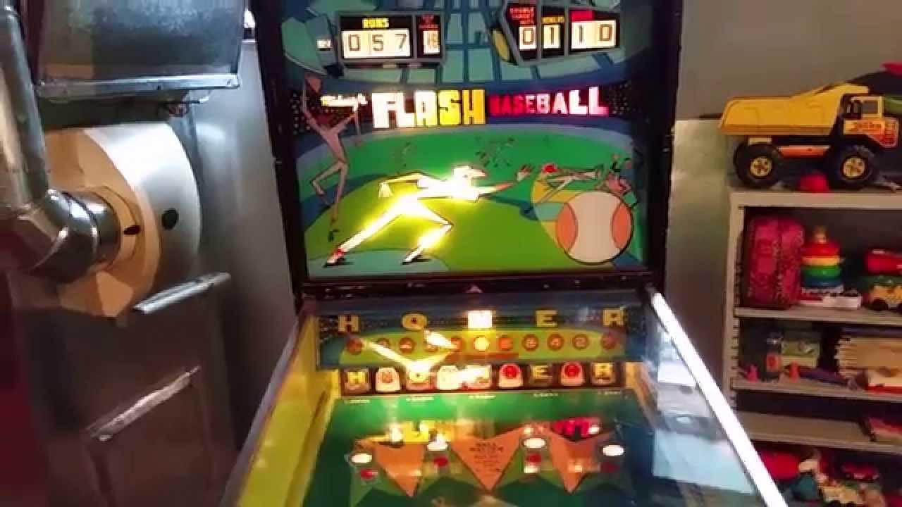 midway s flash baseball pinball machine 1972 game 1 youtube
