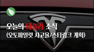 오늘의 테슬라 소식 (오토파일럿 사고율/스타링크 프로젝트)