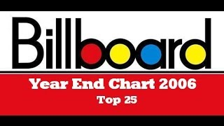 Billboard Year End Chart 2006 -Top 25 - #GiMiHistoryCharts