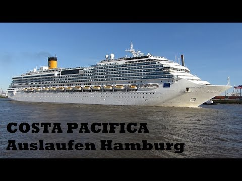 COSTA PACIFICA - Sonniger Abschied in Hamburg, 1. Juni 2017